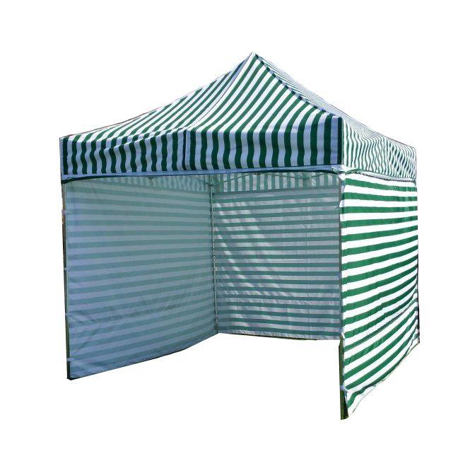 Zahradní párty stan PROFI STEEL 3 x 3 – zeleno-bílá pruhovaná