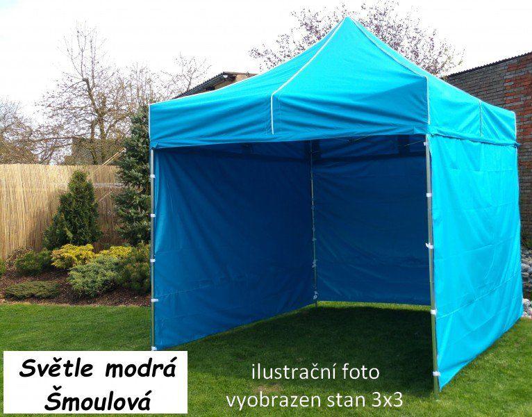Zahradní párty stan PROFI STEEL 3 x 4,5 – světle modrá