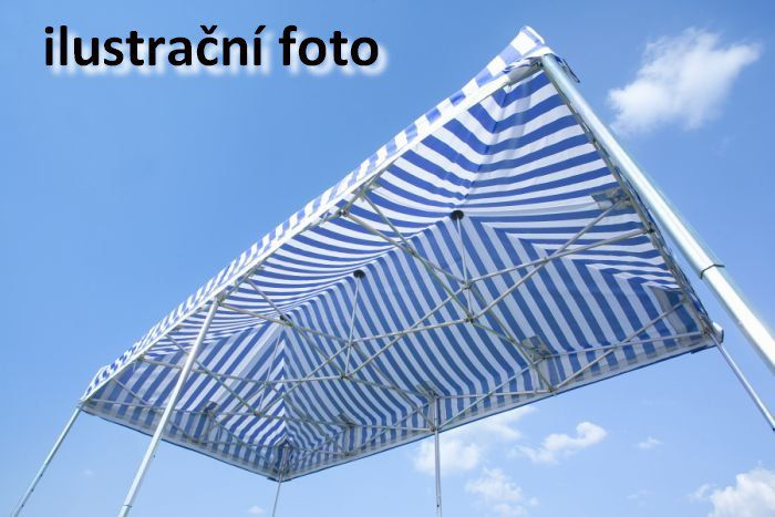 Zahradní párty stan PROFI STEEL 3 x 4,5 – modro-bílá