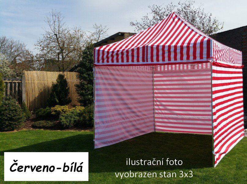 Zahradní párty stan PROFI STEEL 3x4,5 - červeno-bílá