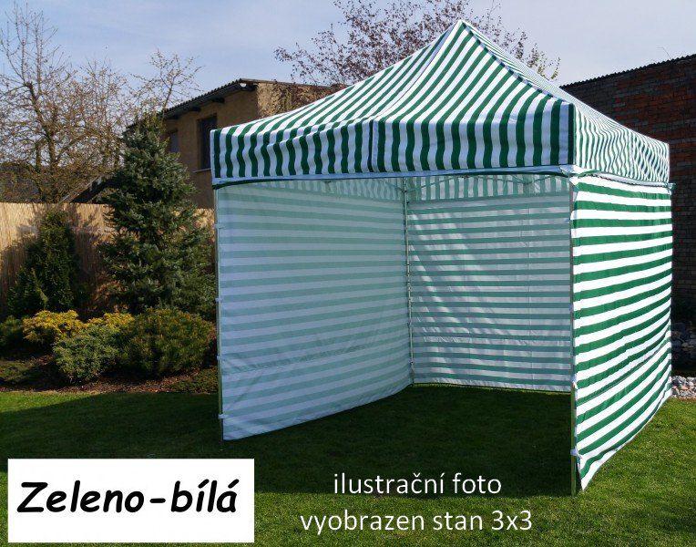 Zahradní párty stan PROFI STEEL 3 x 4,5 - zeleno-bílá
