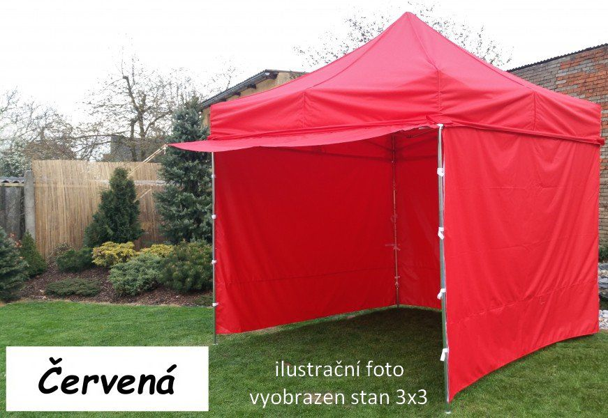 Zahradní párty stan PROFI STEEL 3x4,5 m - červená