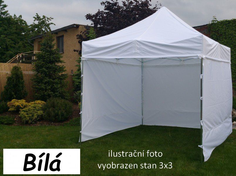Zahradní párty stan PROFI STEEL 3 x 6 – bílá