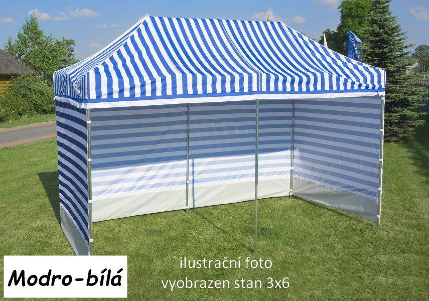 Zahradní párty stan PROFI STEEL 3 x 6 – modro-bílá