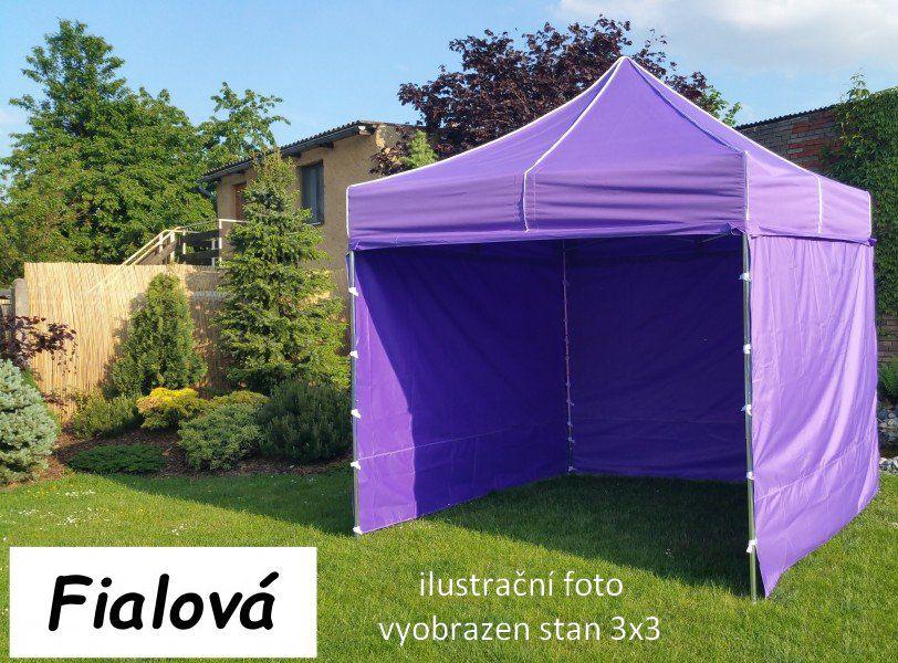 Zahradní párty stan PROFI STEEL - 3x6, fialová