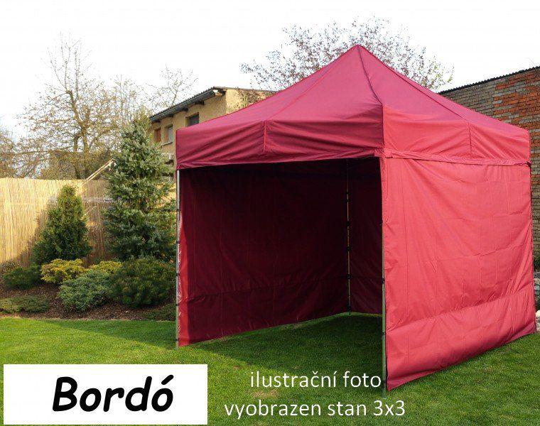 Zahradní párty stan PROFI STEEL 3 x 6 – bordo