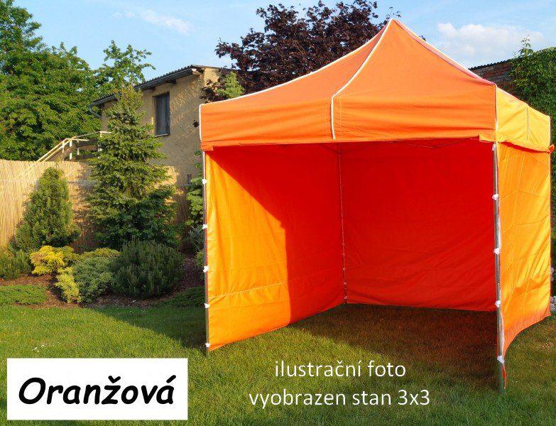 Zahradní párty stan PROFI STEEL 3 x 6 - oranžová