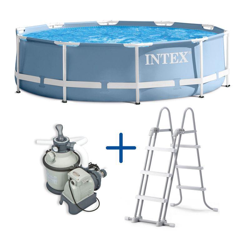 Marimex 43430 Sada Bazén Florida 3,66x0,99 m + filtrace a schůdky