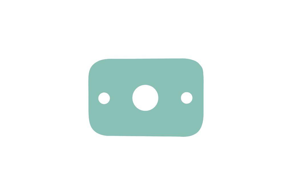 Deska plavecká obdélník 30 x 20 x 3,8 cm - zelená