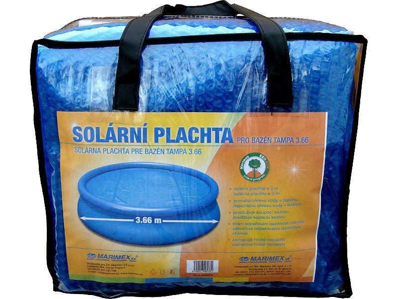 Solární plachta modrá - průměr 3,66 m