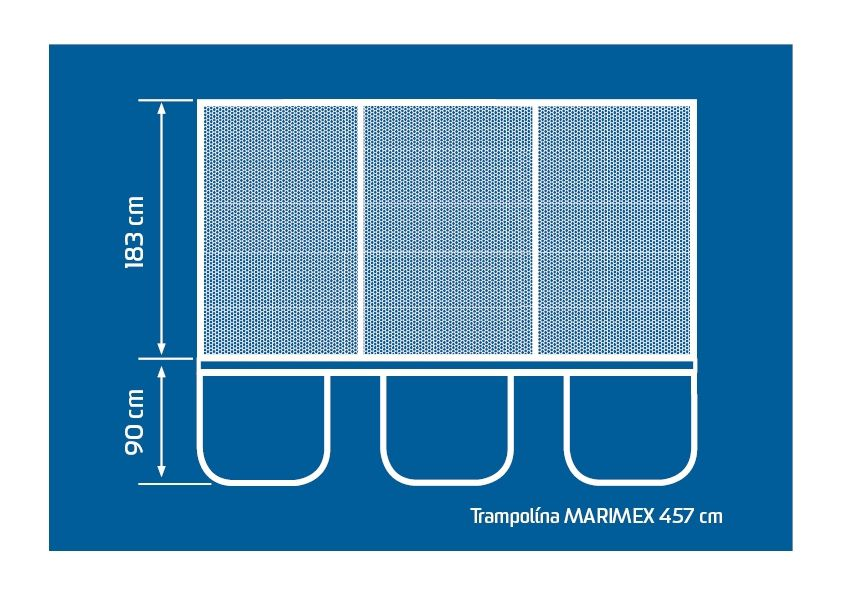 Trampolína 457 cm + vnitřní ochranná síť + žebřík ZDARMA