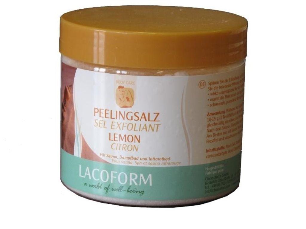Peelingová sůl - citron 500g
