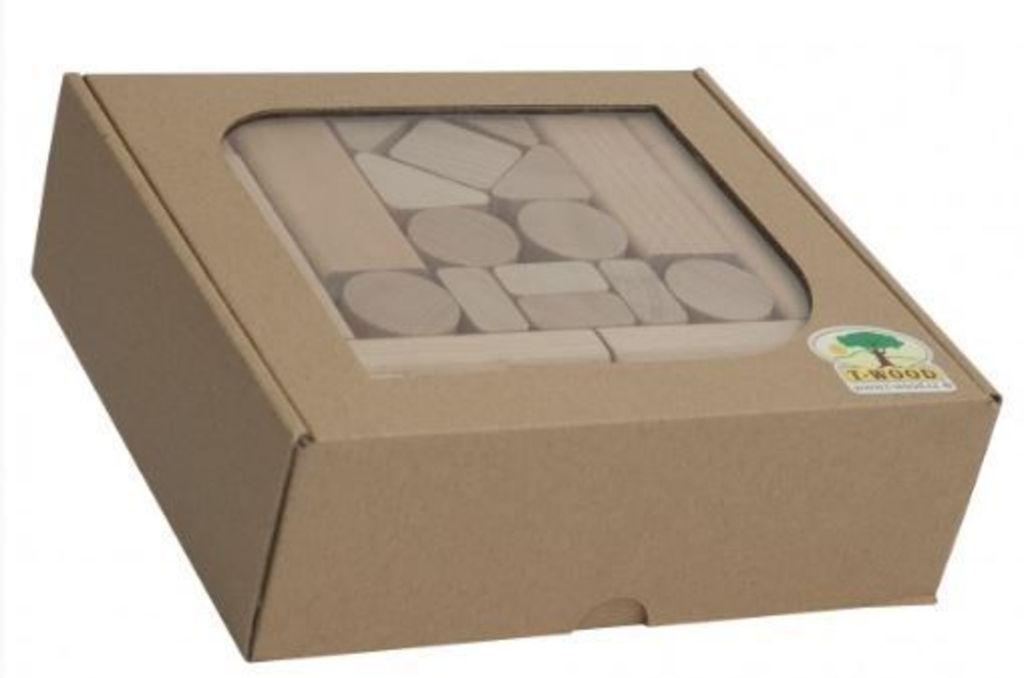 Kostky dřevěné - 50 ks