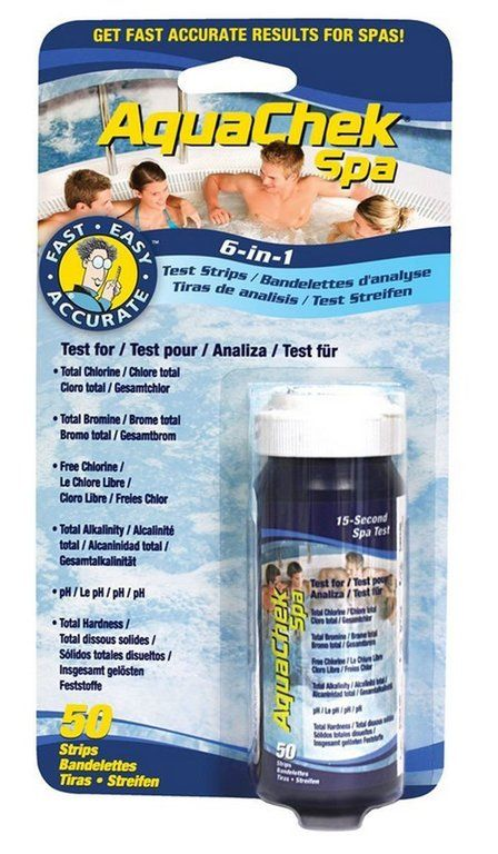 Testovací pásky pro bazény AquaChek Spa 6v1 -50 ks
