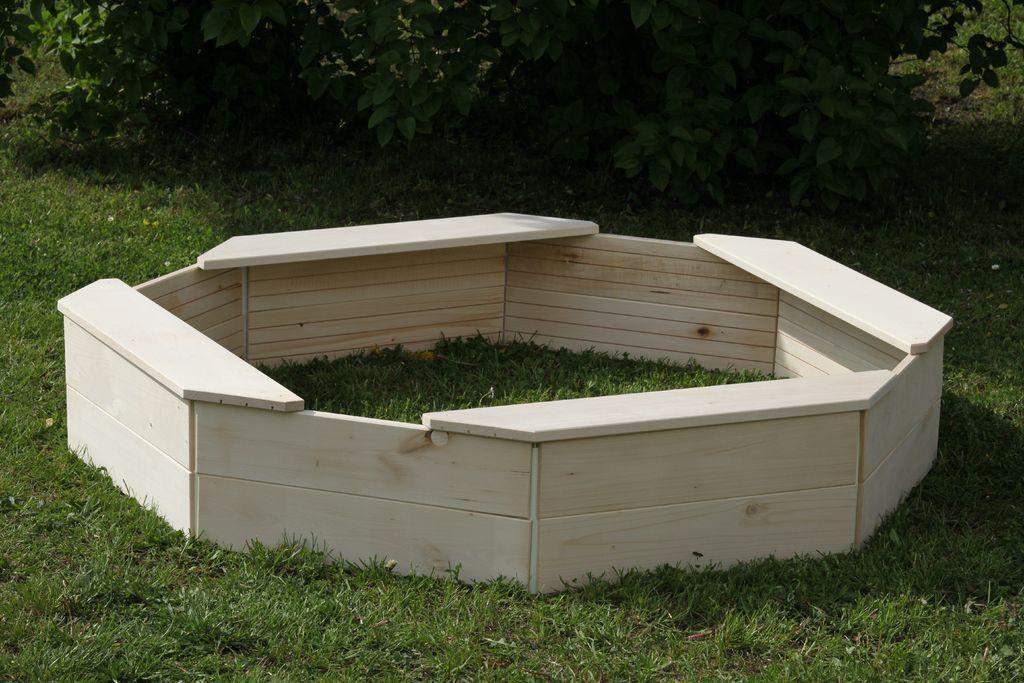 Dřevěné pískoviště – osmihranné