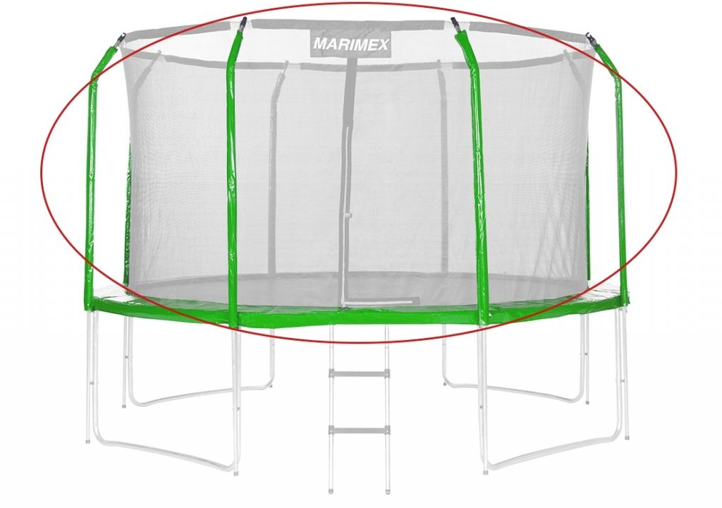 Sada krytů pružin a rukávů na trampolínu - zelená, 244 cm