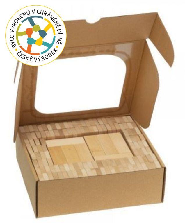 T-Wood Dřevěná stavebnice domino, 200 ks