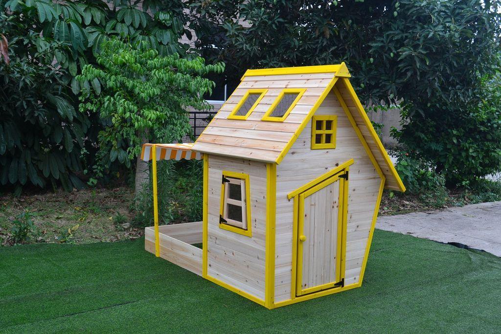 Dřevěný domeček Flinky s pískovištěm
