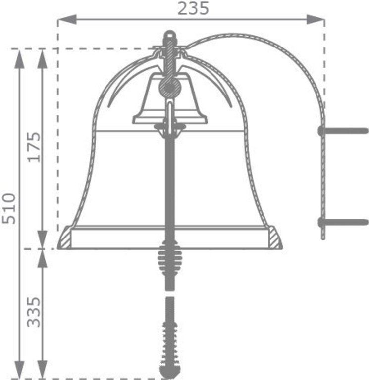 Zvonek – červený