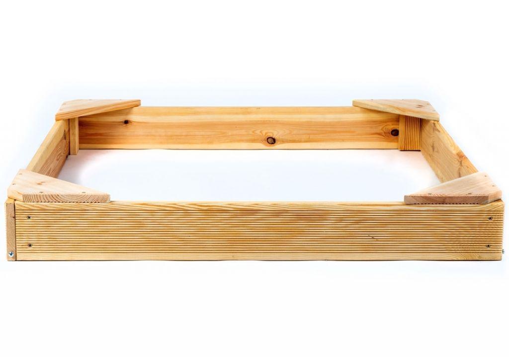 Dřevěné pískoviště čtyřhranné, 100 x 100 x 14 cm