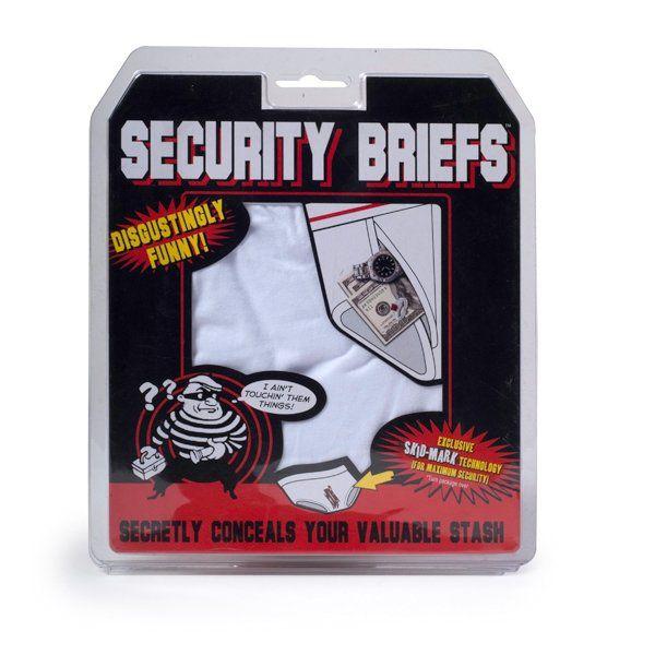 Bezpečnostní spodní prádlo na úschovu cenností