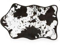 Flekatá kraví koupelnová předložka