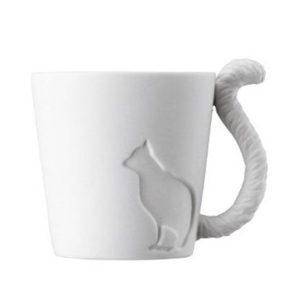 Porcelánový hrneček s ocáskem Kočka 300ml