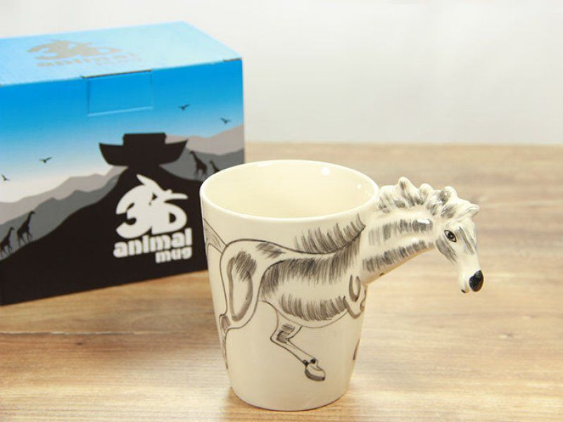 Hrnek s 3D zvířátkem - zebra