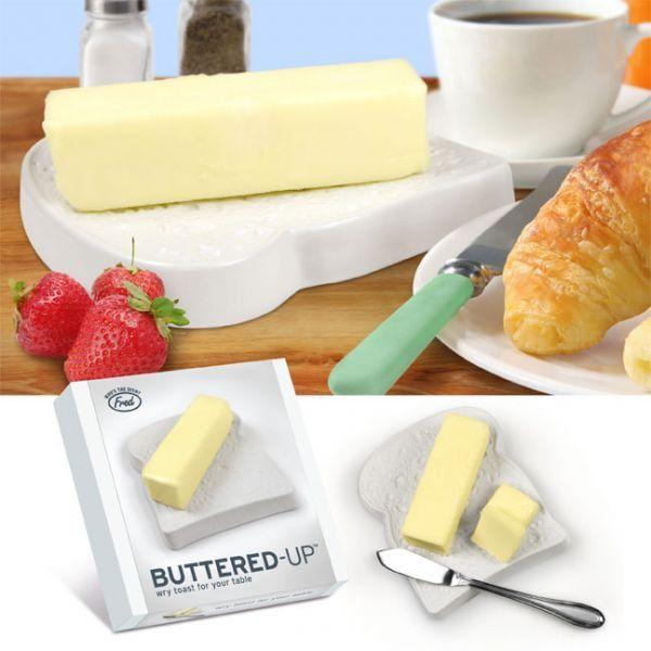 Keramická máselnice ve tvaru toastu