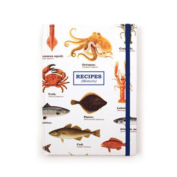 Kniha na recepty - mořský svět