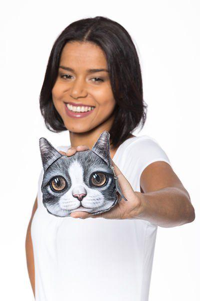 Kočičí peněženka na drobné – model 3