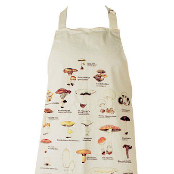 kuchyňská zástěra s houbami