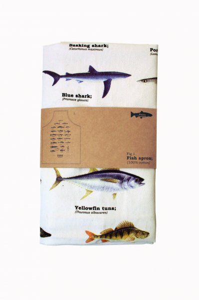 Kuchyňská zástěra s rybami