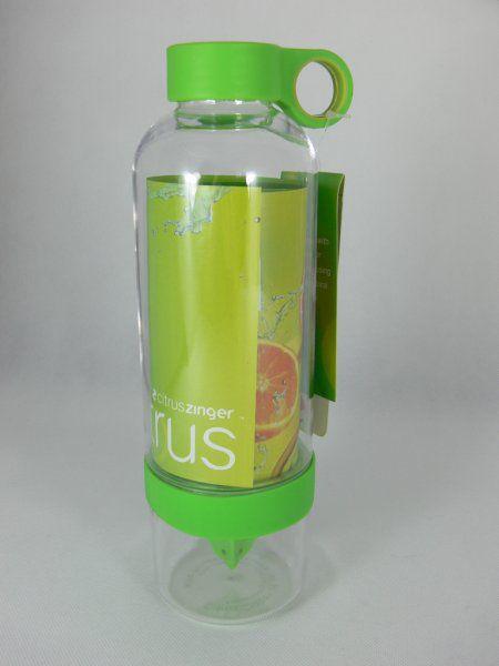 Láhev na pití s lisem na citrusy – zelená