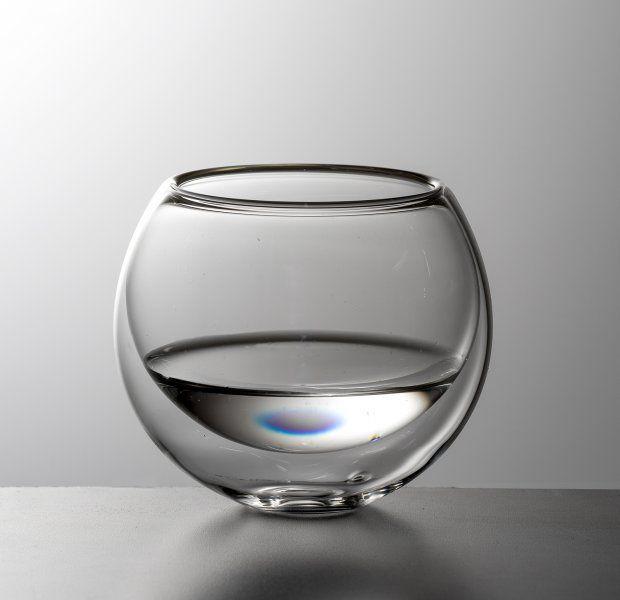 Luxusní kulatá dvoustěnná sklenička na nápoje BULBUS