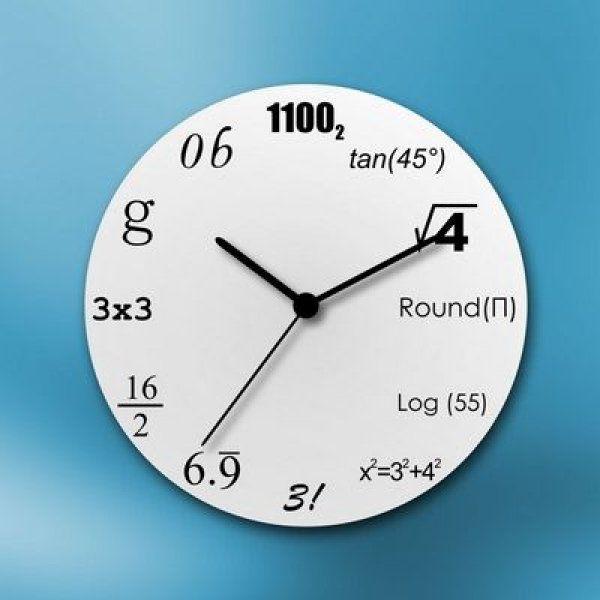 Matematické hodiny – bílé