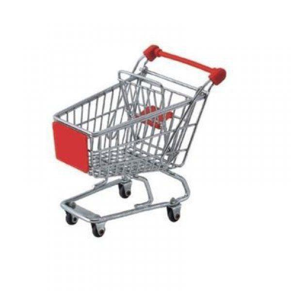 Mini nákupní vozík na kancelářský stůl