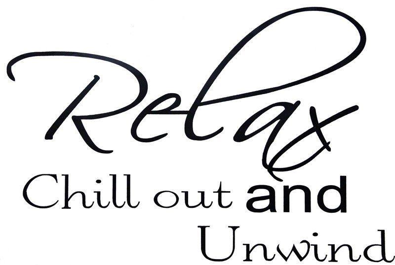 Nástěnná samolepka Relax and Chill out
