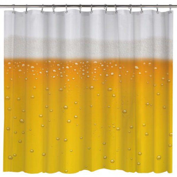 Pivní sprchový závěs