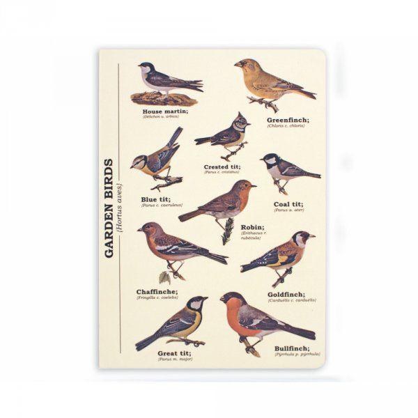 Poznámkový blok A5 s ptáky