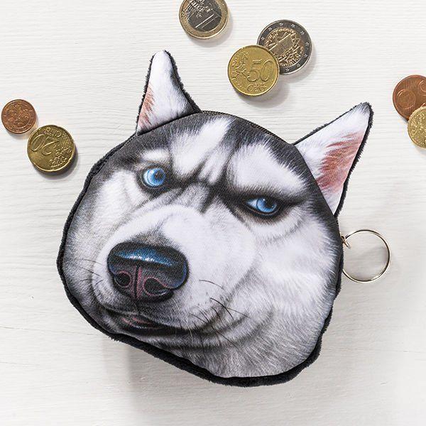 Psí peněženka na drobné pes černý