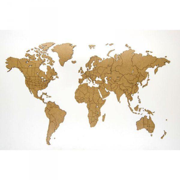 Puzzle mapa světa (100x60) - přírodní