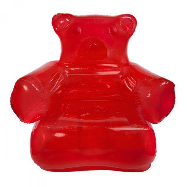 Stylové nafukovací křeslo - gumový medvídek!