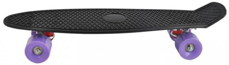 Stylový skateboard z tvrzeného plastu - černá