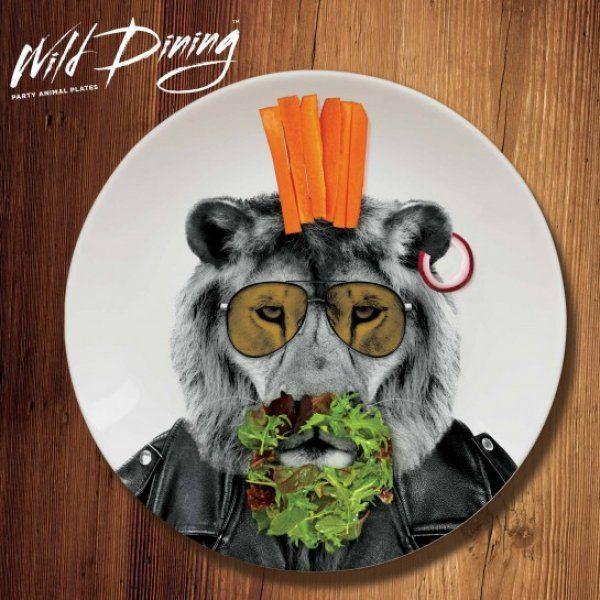 Talíře Wild Dining - lev