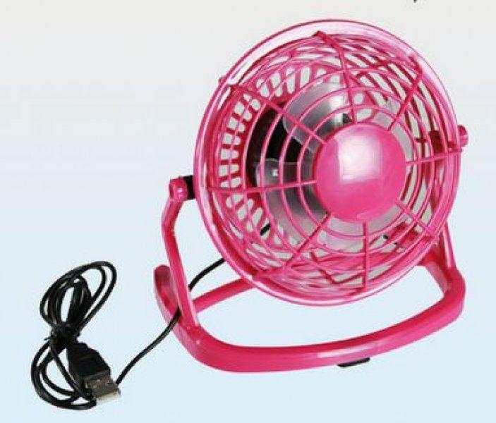 USB stolní větrák – růžový