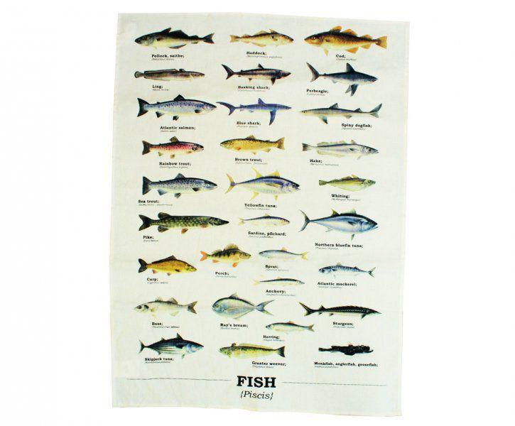 Utěrka s rybami