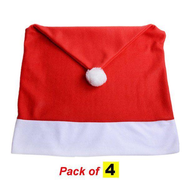 Vánoční potahy na židli - Santa Claus 4ks