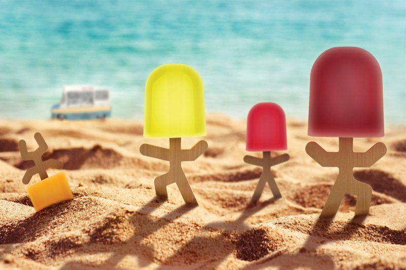 Zábavné formy na zmrzlinu pro děti - 4ks