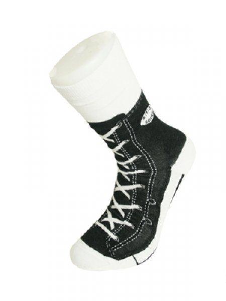 Bláznivé ponožky - basket - černá